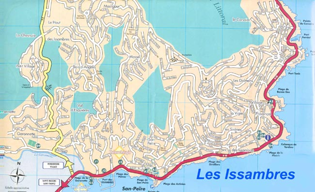 Map of Les Issambres