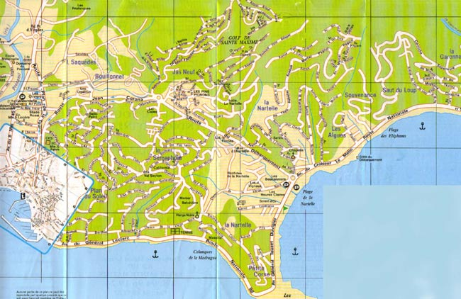 Map of St Maxime