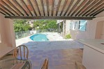 La Garrigue roofed terrace and pool