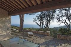 Pastourelle terrace and view