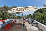 Pins Parasols view lower balcony