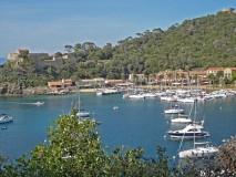 Port Cros Fort du Moulin, harbour and village